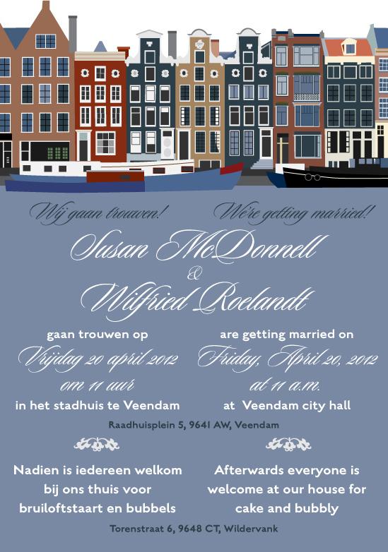 Dutch wedding invitation